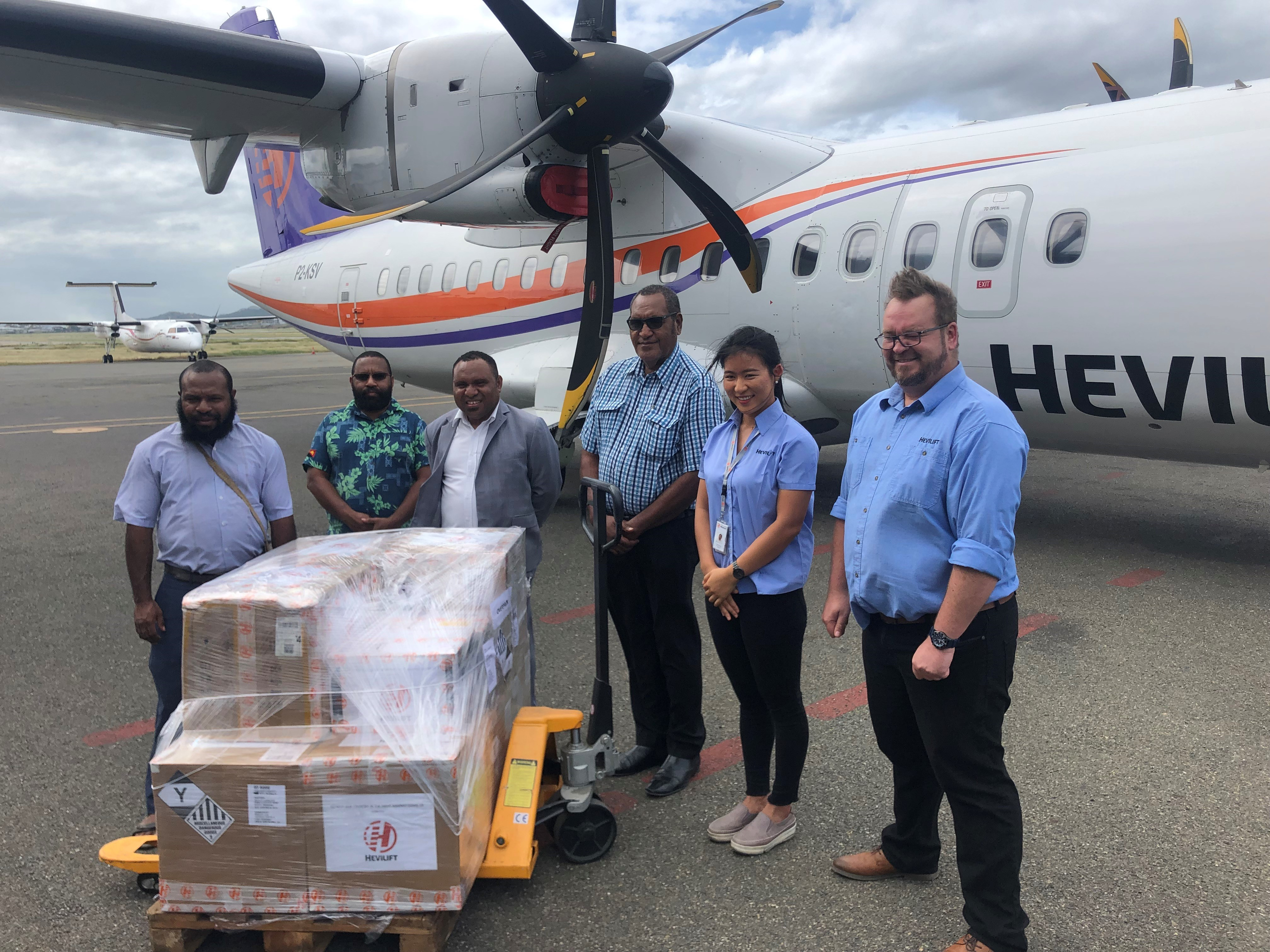 HeviLift Donates PPE Equipment to MRDC for Gulf and Western Province Shareholders